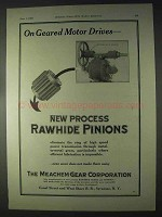 1922 Meachem Gears Ad - On Geared Motor Drives