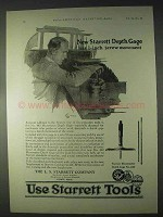 1922 Starrett Tools Ad - Micrometer Depth Gage No. 440