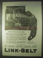1922 Link-Belt Silent Chain Drive Ad - Which Drive?