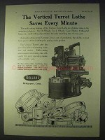 1922 Bullard Vertical Turret Lathe Ad - Saves