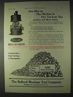 1922 Bullard Mult-Au-Matic Ad - One Man on One Machine
