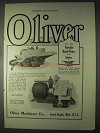1922 Oliver No. 133 Portable Hand-Planer and Jointer Ad