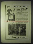 1922 South Bend Silent Chain Motor Driven Lathe Ad
