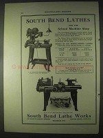 1922 South Bend Silent Chain Motor, No. 67 Lathes Ad