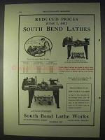 1922 South Bend No. 27 and No. 65 Lathes Ad