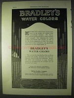 1922 Bradley's Water Colors Ad!