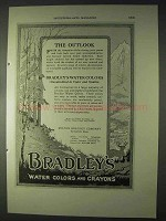 1922 Bradley's Water Colors Ad - The Outlook