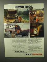 1982 Honda EM-500 Portable Generator Ad - Power to Go