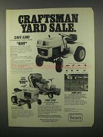 1982 Sears Craftsman Ad - Garden Tractor, Riding Mower