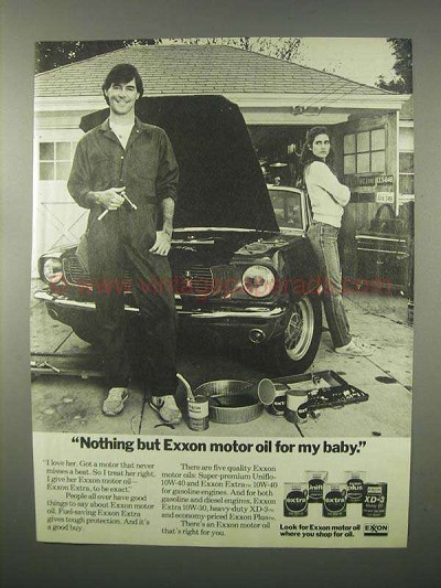 1982 Exxon Motor Oil Ad For My Baby