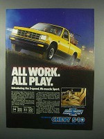 1982 Chevy S-10 Truck Ad - All Work All Play