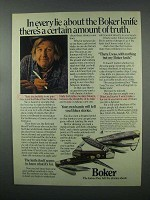 1982 Boker Knives Ad - A Certain Amount of Truth