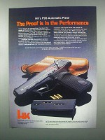 1982 Heckler & Koch P9S Automatic Pistol Ad - The Proof