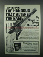 1982 Thompson / Center Arms Ad - Contender Handgun