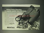 1982 Pentax Binoculars Ad - Wouldn't Have this Trophy