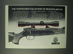 1982 Mannlicher Ad - Collection of Sporting Rifles