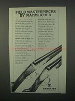 1982 Mannlicher London and Oxford Shotgun Ad