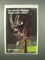 1982 Bear Archery Kodiak Magnum Bow Ad - Two Season