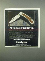 1982 Kershaw Rogue Model 2000 Knife Ad - Home on Range
