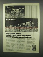 1981 Alpo Dog Food Ad - Delivers More Endurance