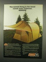 1981 Coleman Genesis Tent Ad - Newest Thing in Forest