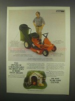 1981 Jacobsen RMX Riding Mower Ad - More Than Smart