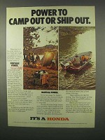 1981 Honda EM-500 Portable Generator Ad - Camp Out