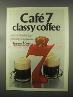 1981 Seagram's 7 Crown Whiskey Ad - Classy Coffee