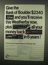 1981 Bank of Boulder Weatherby Mark V Rifle Ad