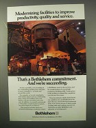 1981 Bethlehem Steel Ad - Modernizing Facilities