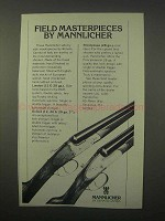 1981 Mannlicher London, Oxford Shotguns Ad