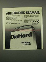 1981 Sears DieHard RV/Marine Battery Ad - Able-Bodied