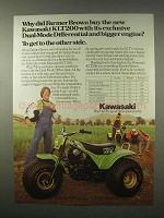 1980 Kawasaki KLT200 Three-Wheeler Ad - Bigger Engine