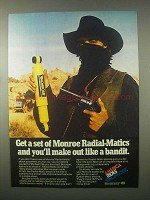 1980 Monroe Radial-Matic Shocks Ad - Like a Bandit