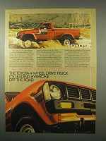 1980 Toyota Truck Ad - Oh What a Feeling!