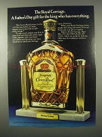 1980 Seagram's Crown Royal Ad - The Royal Carriage