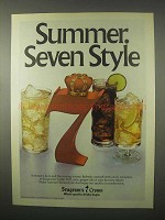 1980 Seagram's 7 Crown Whisky Ad - Summer Style