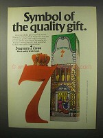 1980 Seagram's 7 Crown Whisky Ad - Quality Gift