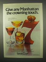 1980 Seagram's 7 Crown Whisky Ad - Crowning Touch