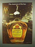 1980 Seagram's Crown Royal Ad - Chairman of the Bar
