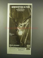 1980 Bear Archery Whitetail Hunter Bow Ad - Fun!