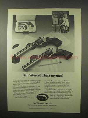 1980 Dan Wesson Revolvers Ad - That's My Gun!