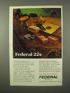 1980 Federal 22 Ammunition Ad
