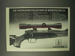 1980 Mannlicher Rifle Ad - Sporting Rifles