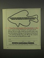 1980 North Carolina Tourism Ad - Find In the Waters