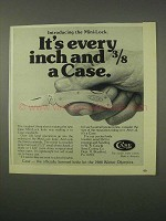1980 Case Mini-Lock Knife Ad - Every Inch and 3/8