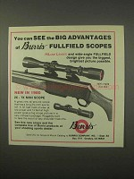 1980 Burris Scopes Ad - See the Big Advantages