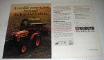 1980 Kubota Tractor Ad - Unfair Comparison Between Jeep