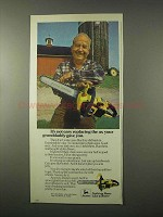 1979 John Deere Chain Saw Ad - Replacing The Ax