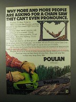 1979 Poulan Micro XXV Deluxe Chain Saw Ad - Pronounce